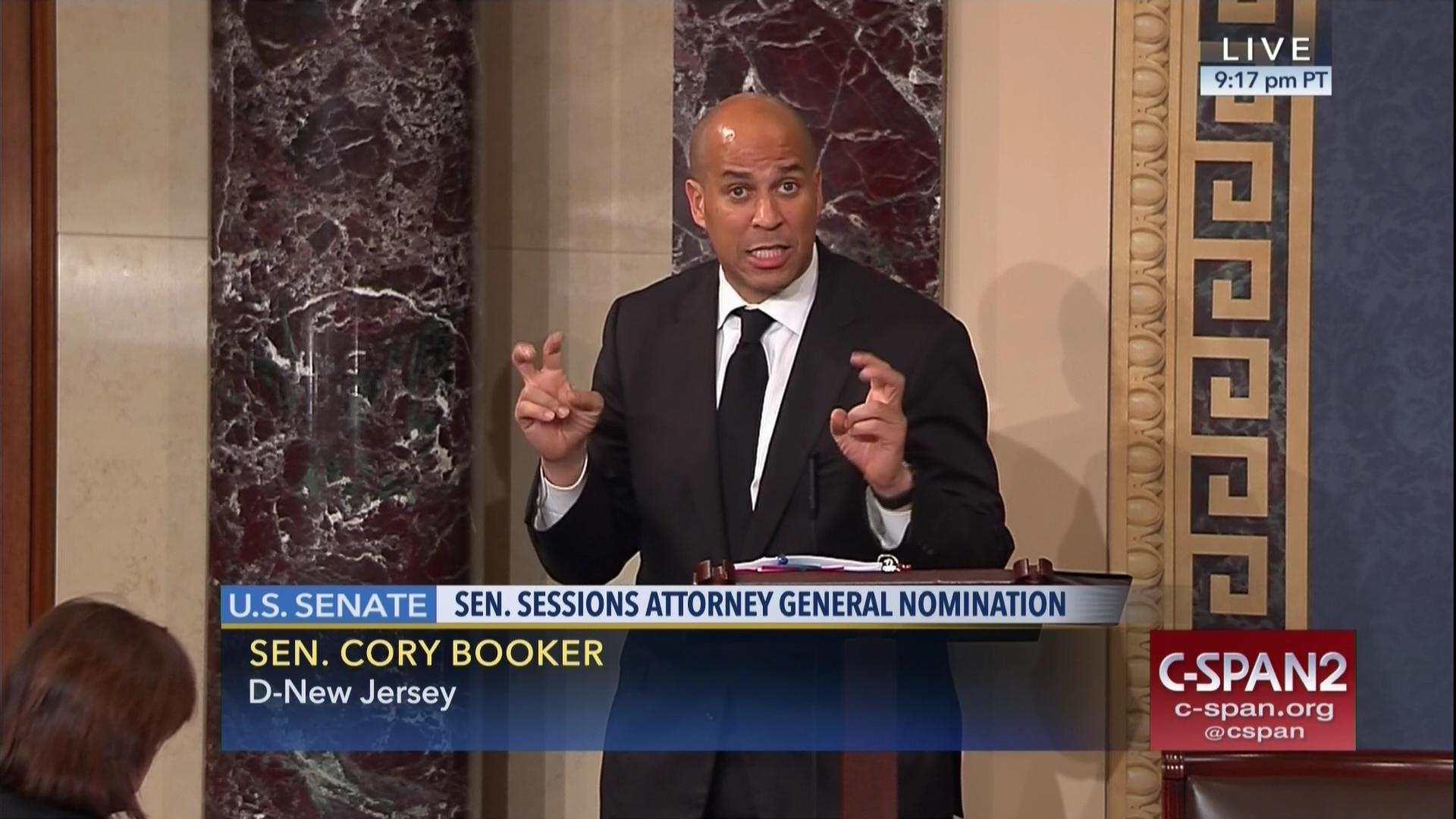 834911b4 Sen. Booker's Floor Speech Opposing the Nominiation Of Jeff Sessions    C-SPAN.org