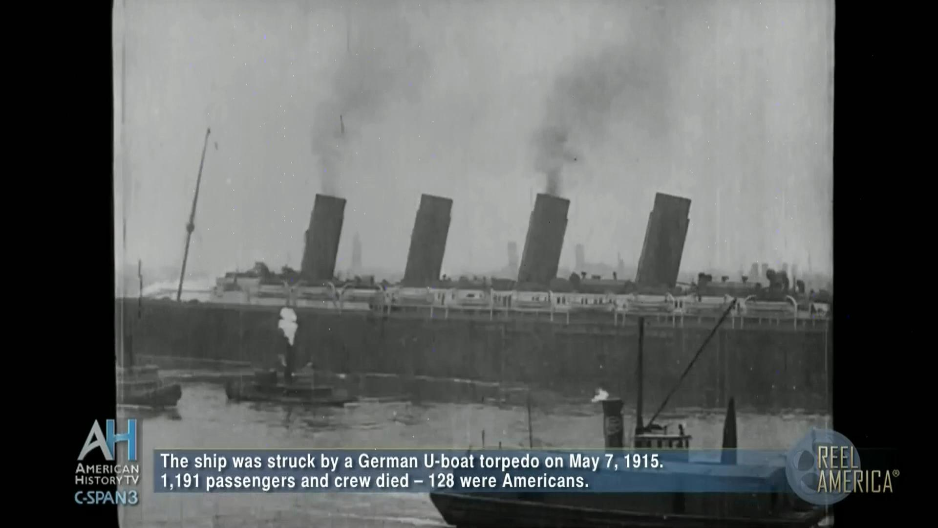 Rms Lusitania Departing New York City On Final Voyage C Spanorg