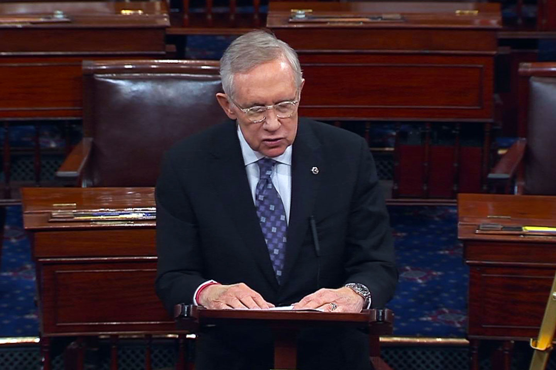 Edwards Defensive Charade Stern Dad >> Senator Harry Reid On The House Benghazi Committee C Span Org
