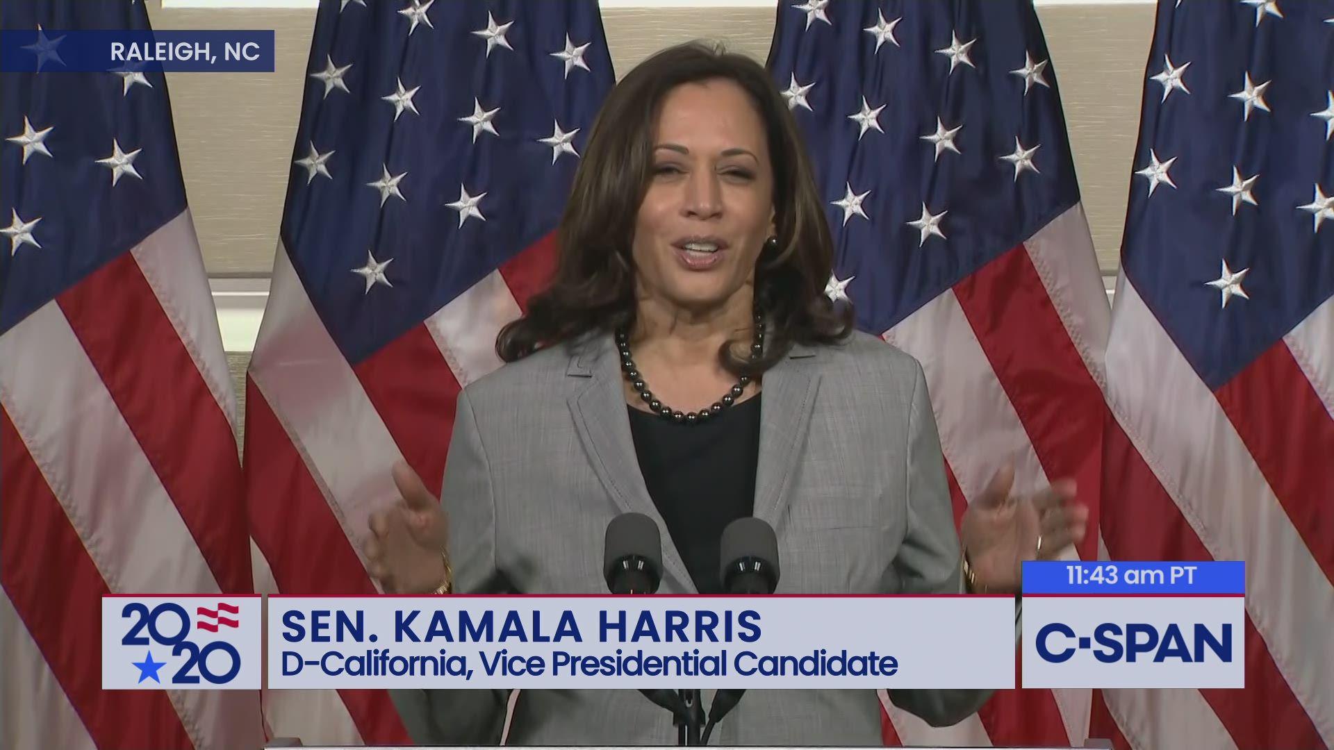 Senator Kamala Harris Remarks On The Supreme Court C Span Org
