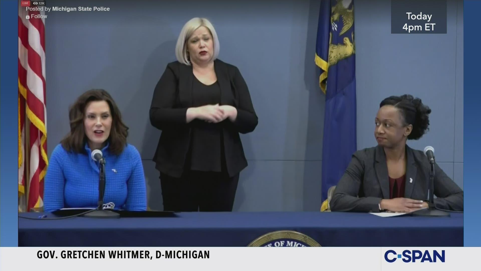 Michigan Governor Whitmer Coronavirus News Conference C Span Org