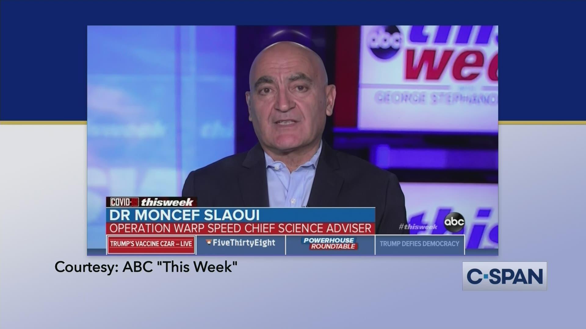 Dr Moncef Slaoui On Covid 19 Vaccine C Span Org
