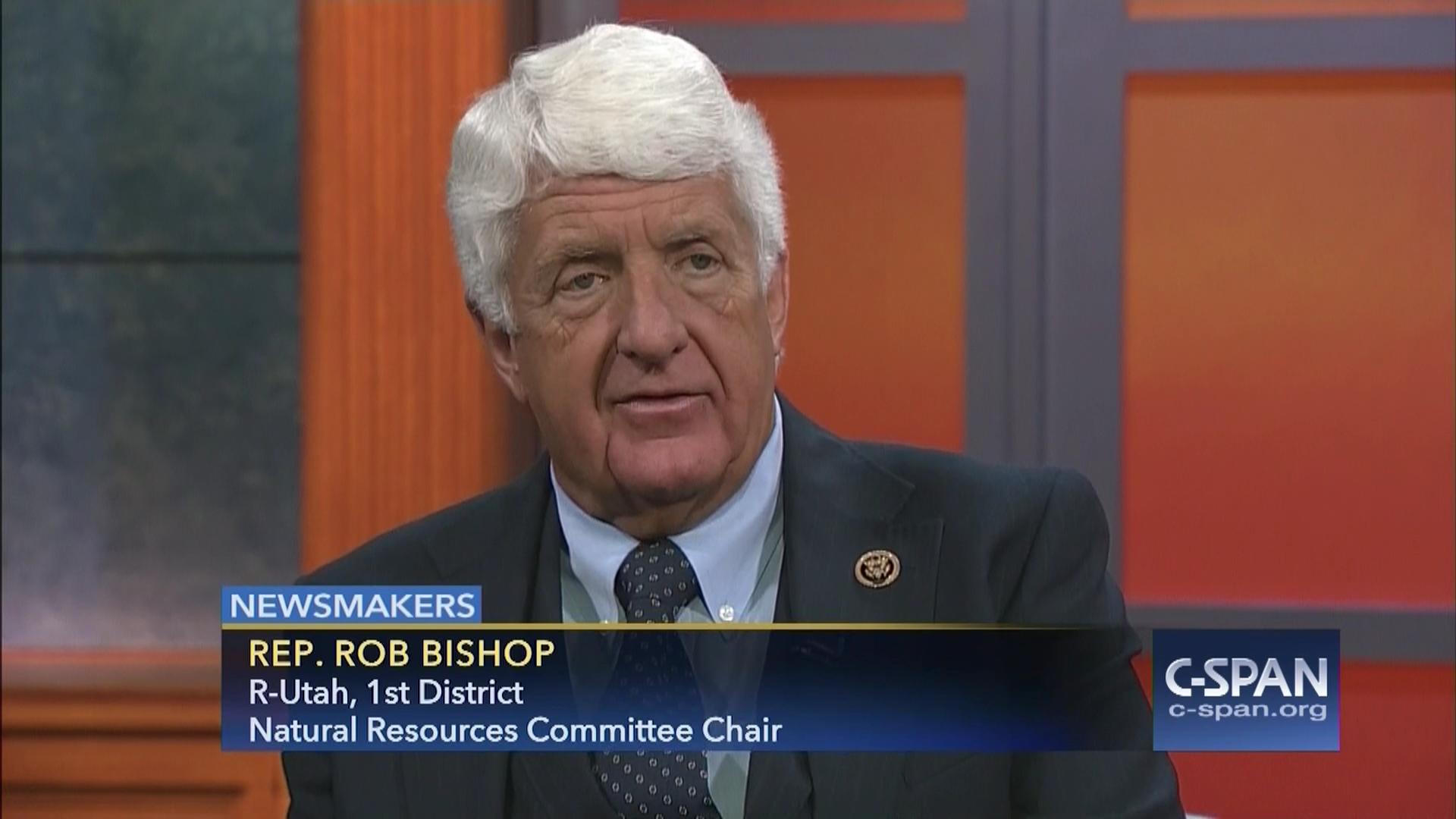newsmakers representative rob bishop, may 13 2016   c-span