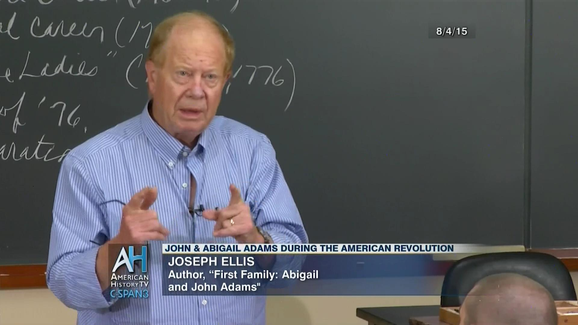 discussion john abigail adams american revolution aug c discussion john abigail adams american revolution aug 4 2015 c span org