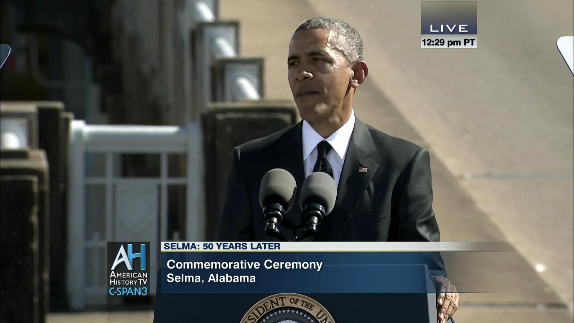 John Lewis Barack Obama at Selma