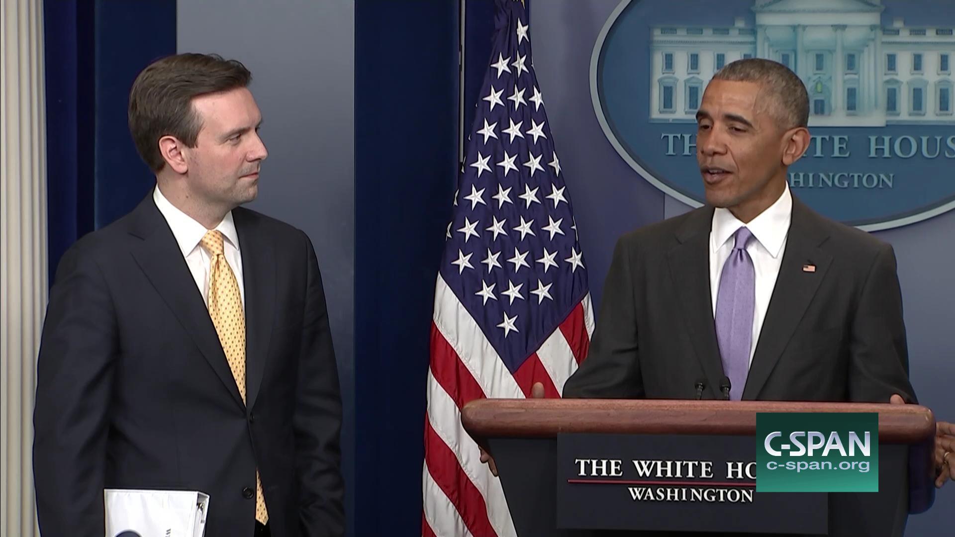 President Obama Pays Tribute Press Secretary Final Briefing, Jan ...