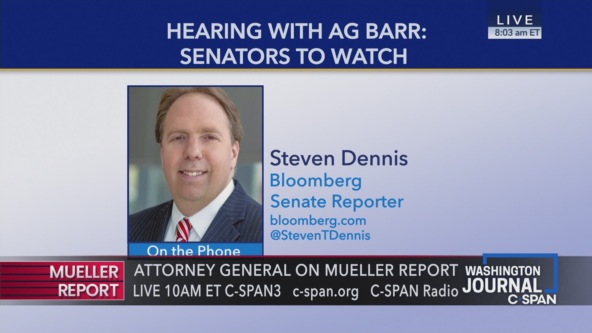 a9e24eecda4 Steven Dennis on Attorney General Barr Hearing on Mueller Report