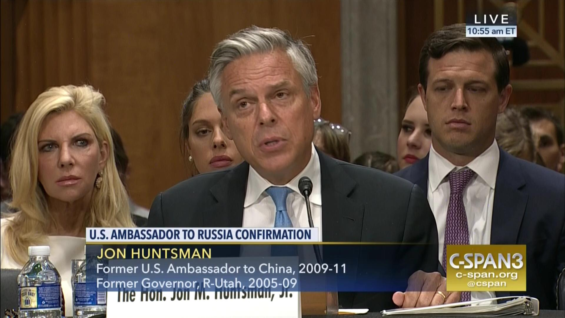 Ambassador Russia Nominee Jon Huntsman Testifies Capitol Hill Sep