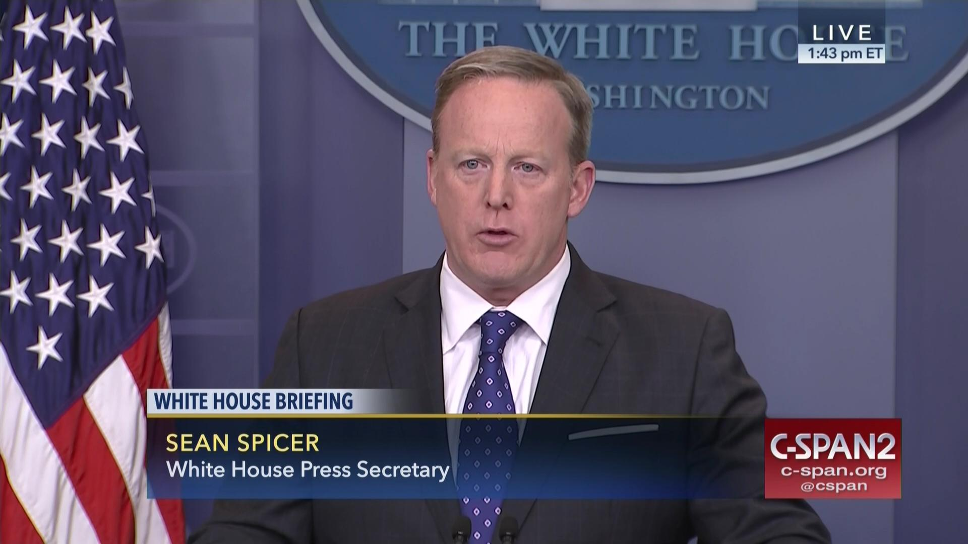 sean spicer briefs reporters white house, feb 21 2017 | c-span