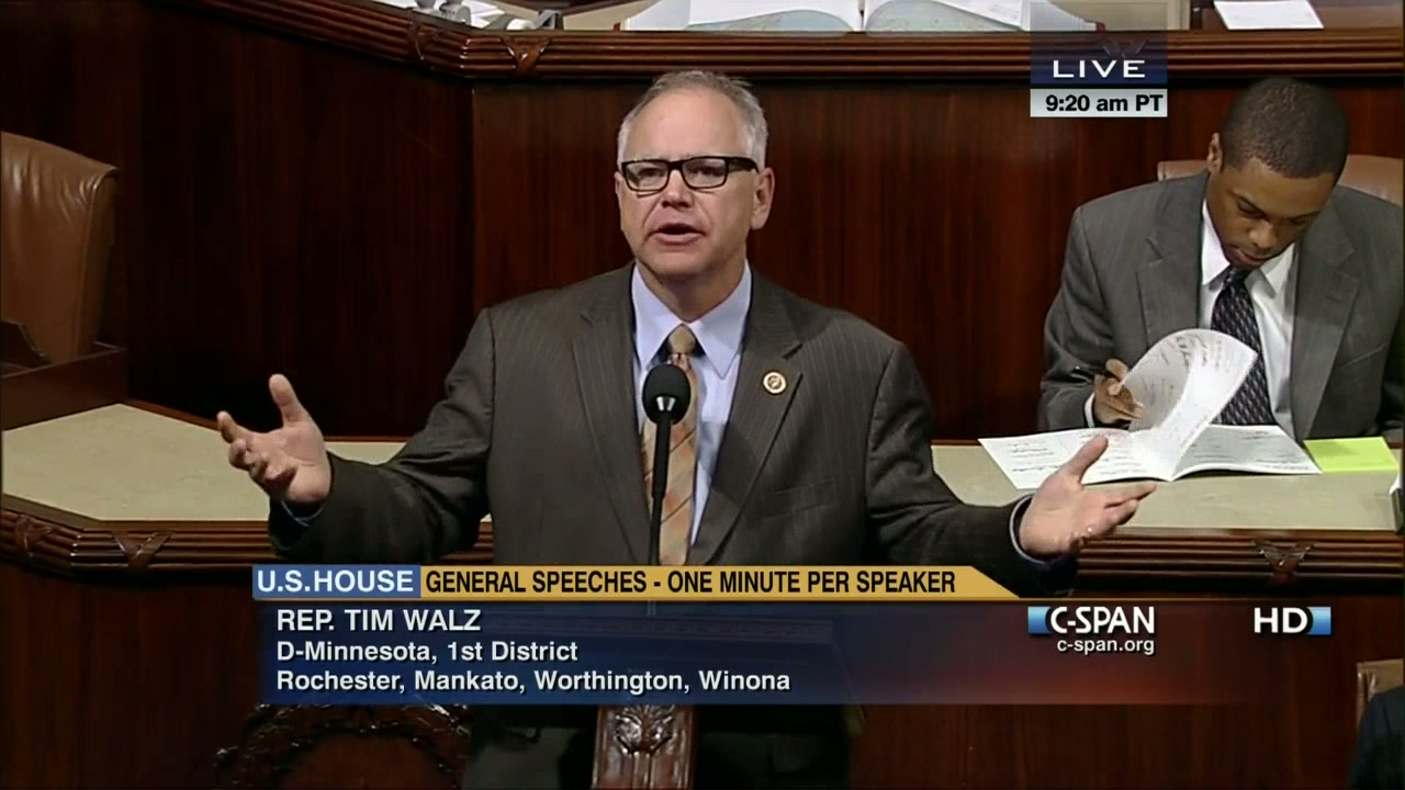 Rep  Walz Notes Farm Bill on House Floor