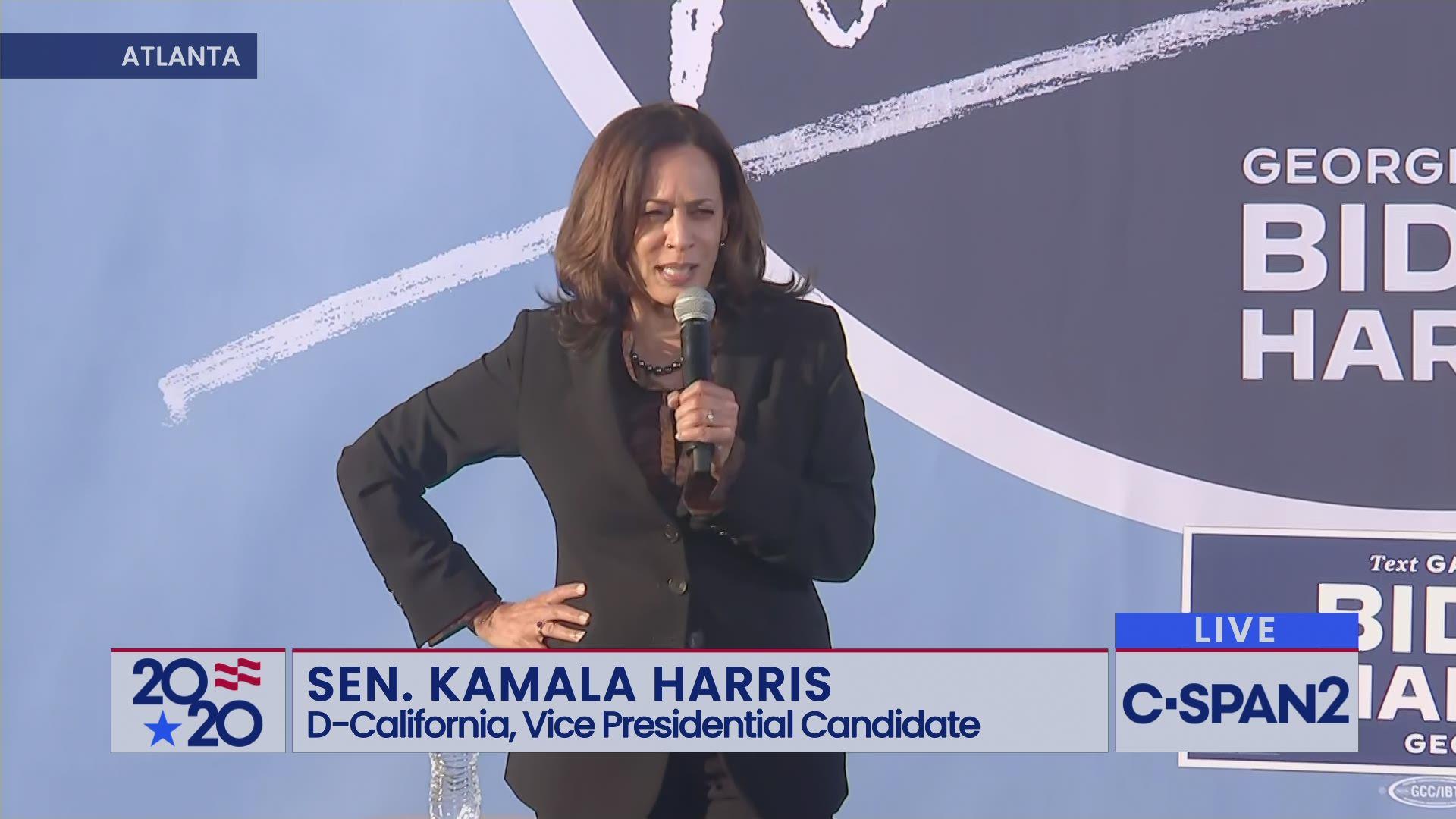 Senator Kamala Harris Campaigns In Atlanta C Span Org