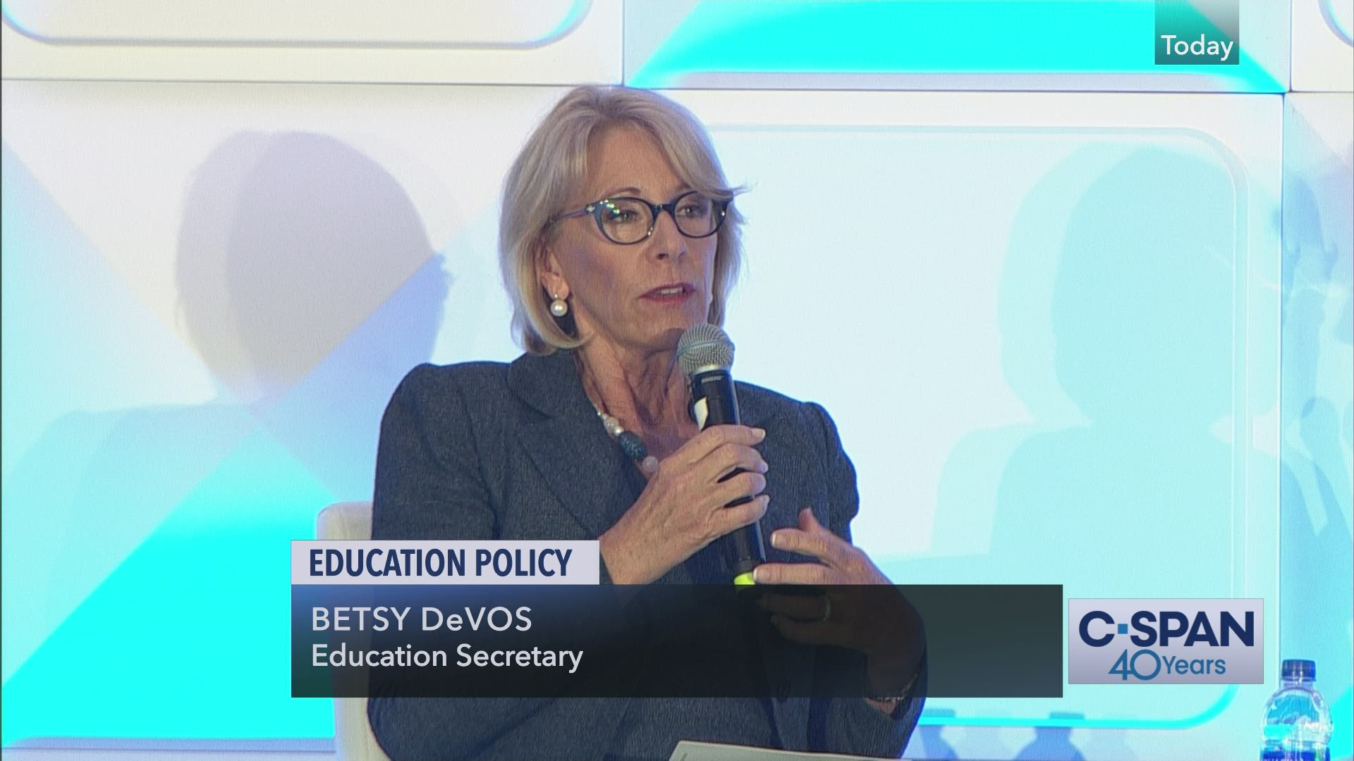 Special Education Chiefs To Devos Dont >> Education Secretary Betsy Devos Addresses Education Conference C