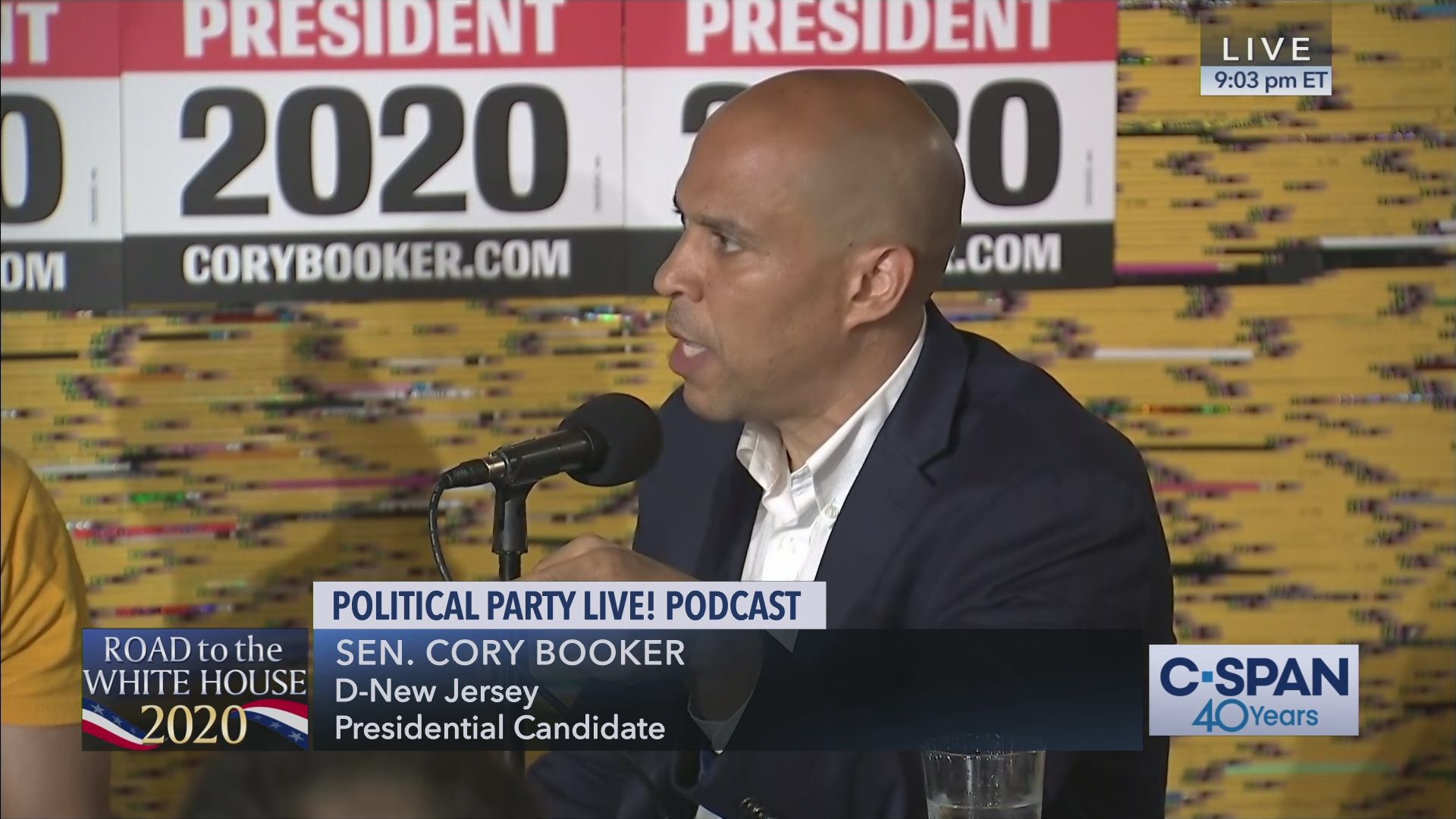 Best Podcast Hosting 2020 Senator Cory Booker at Political Party Live! Podcast in Iowa | C