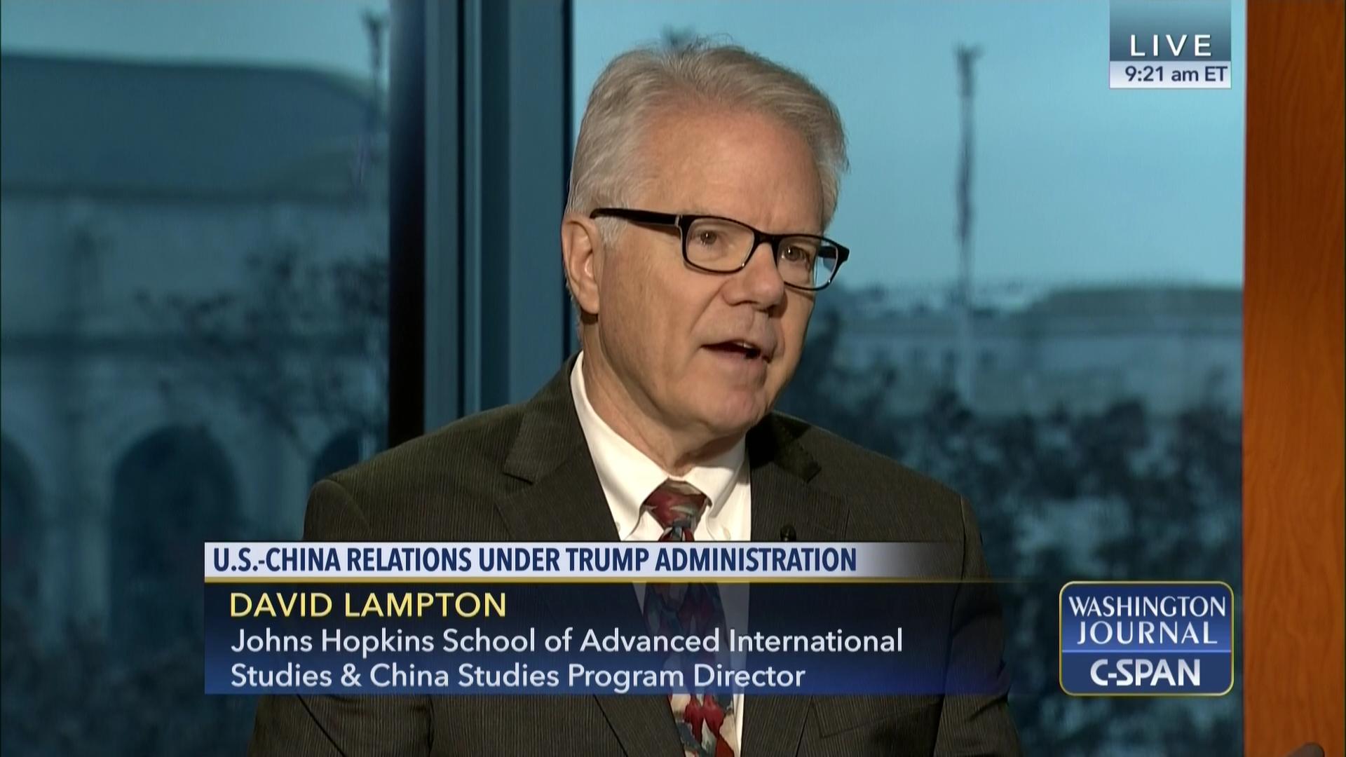 cf52aca419 David Lampton on U.S.-China Relations in the Trump Administration ...