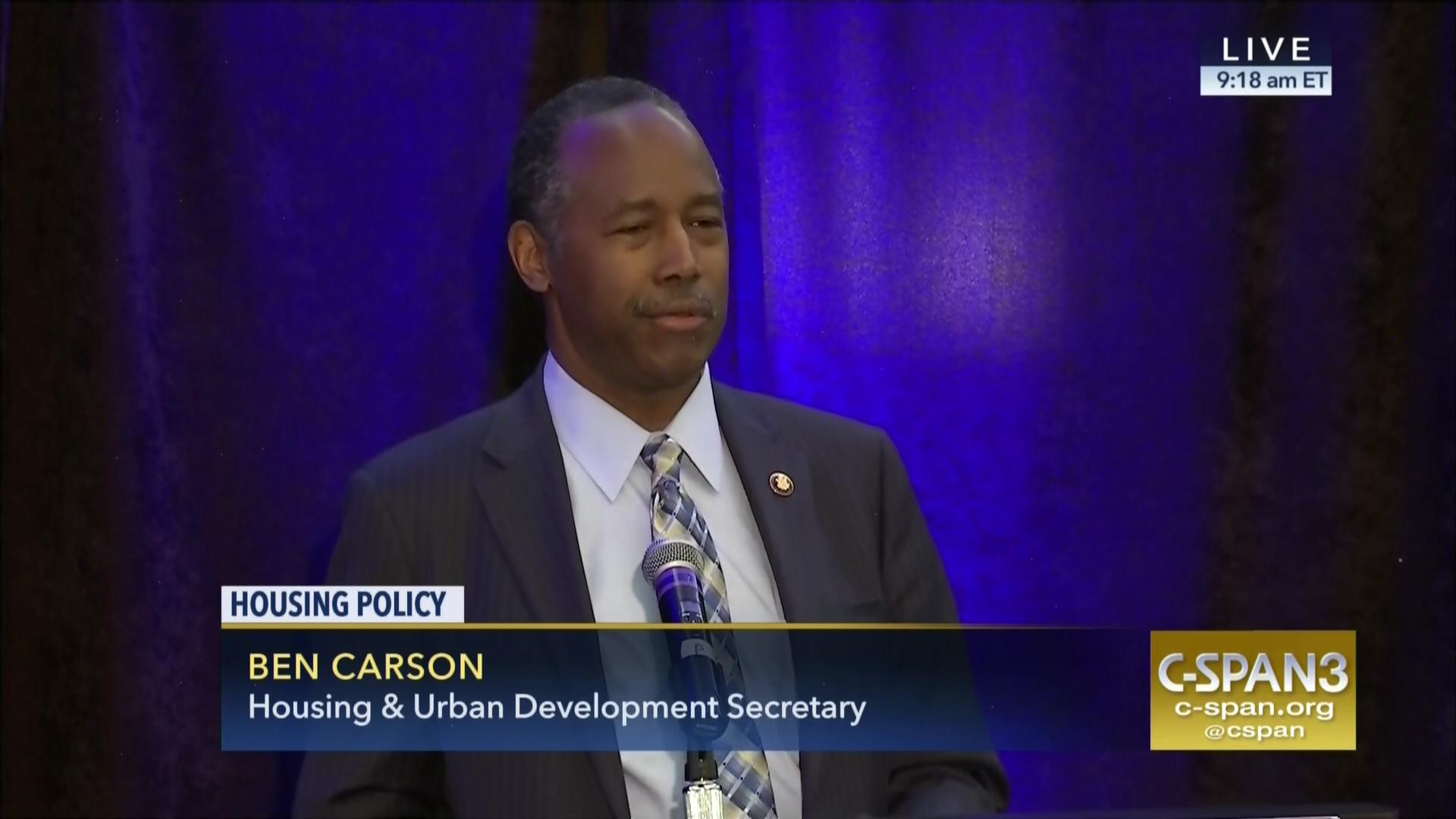 hud secretary addresses national housing conference, jun 9 2017