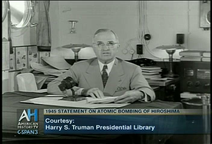 President Truman Speech Bombing Hiroshima, Aug 6 1945 | C-SPAN.org