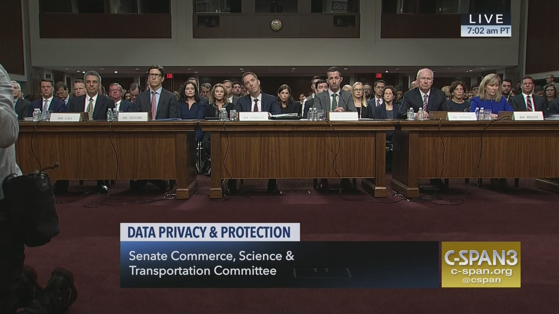 Attention Senators Questions 14 >> Data Privacy And Protection C Span Org
