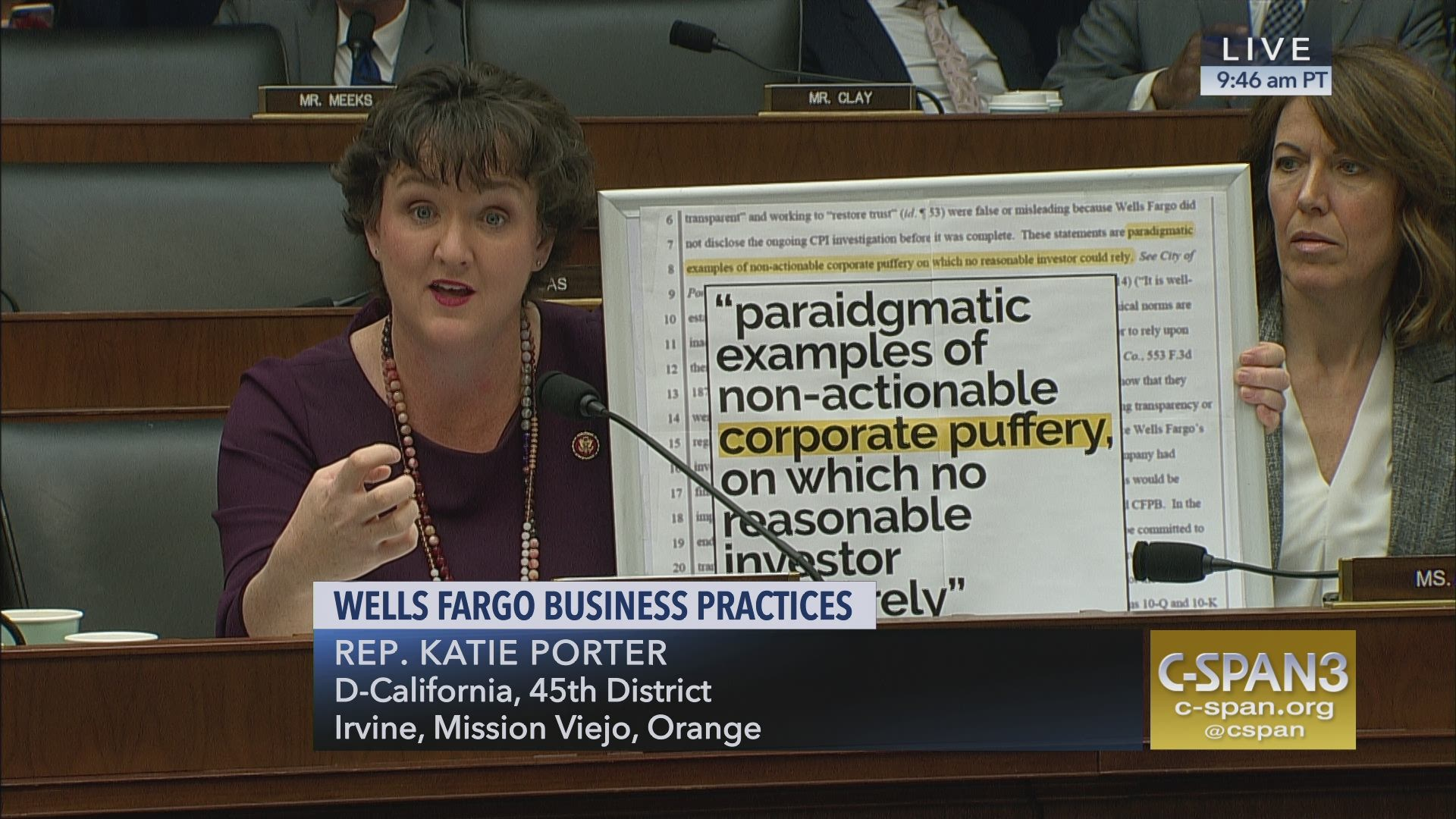 Rep  Katie Porter grills Wells Fargo CEO Timothy Sloan