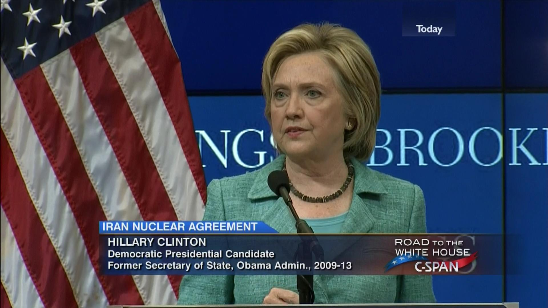 Model applied to british media coverage of iran nuclear deal - Presidential Candidate Hillary Clinton On Iran Nuclear Agreement