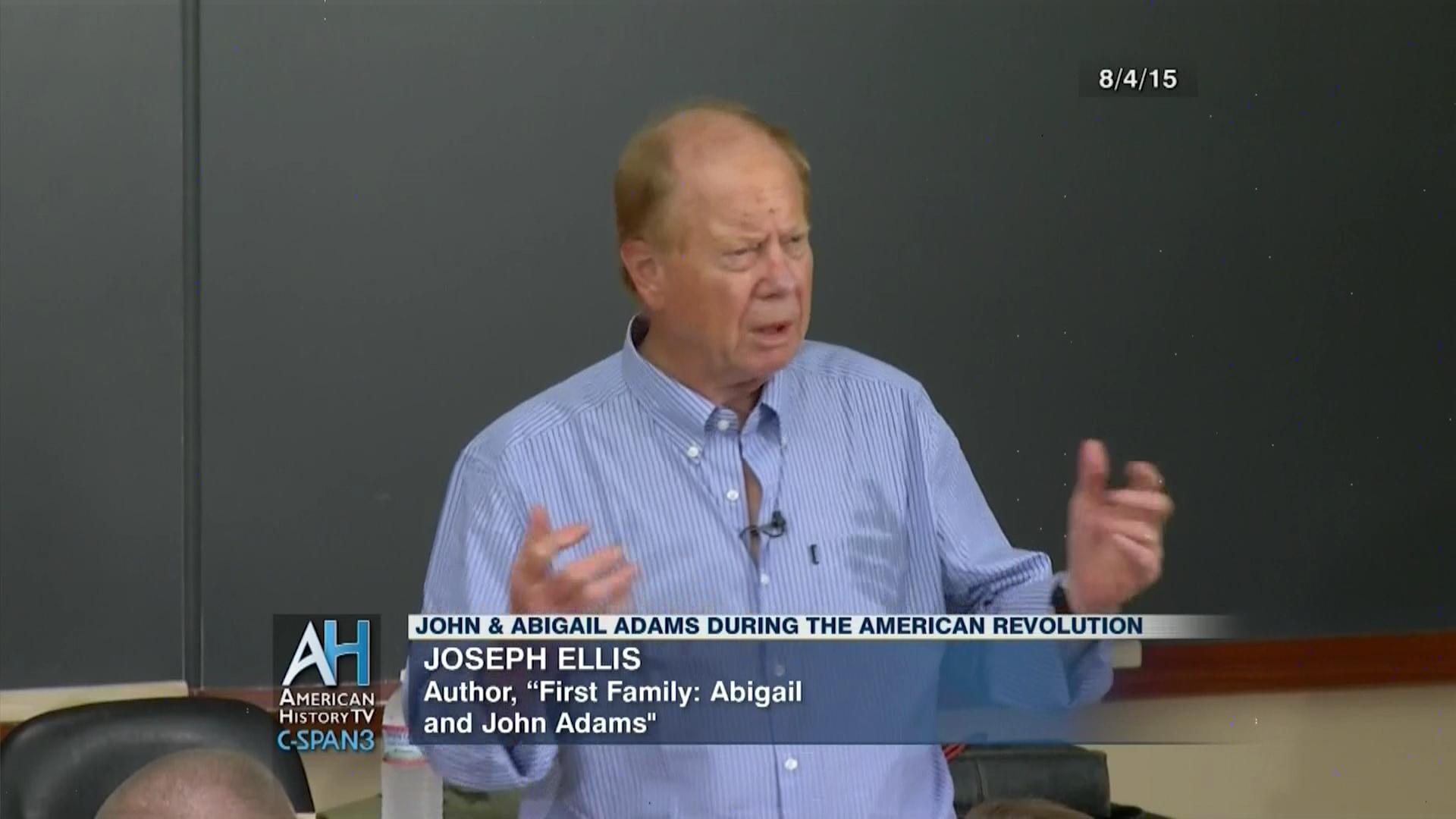 discussion john abigail adams american revolution video c span org