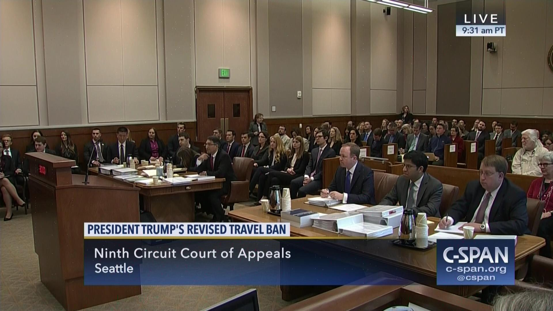 Ninth Circuit Hears Oral Argument Travel Ban May 15 2017 Video Federal Appellate Courts Across The Country Are Split On Issue Of