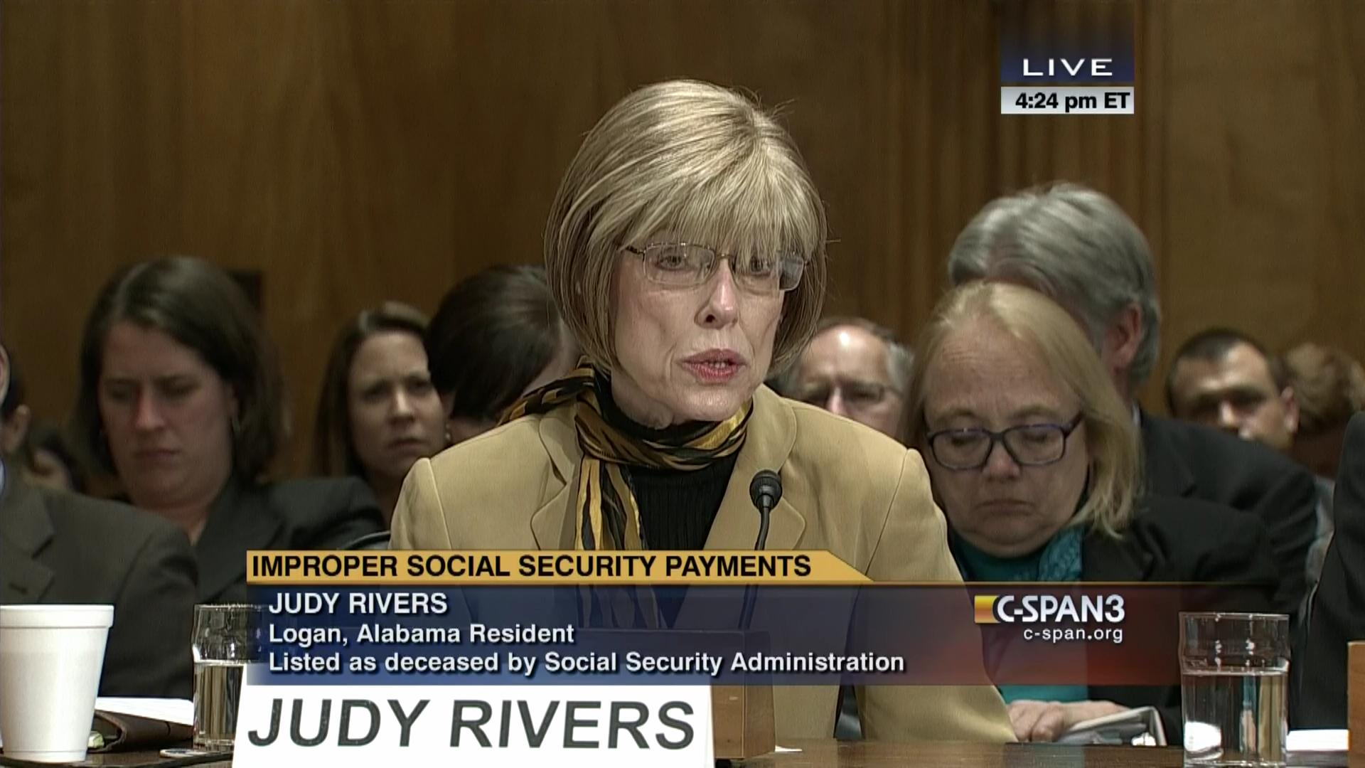 Hearing Improper Social Security Payments Mar Video