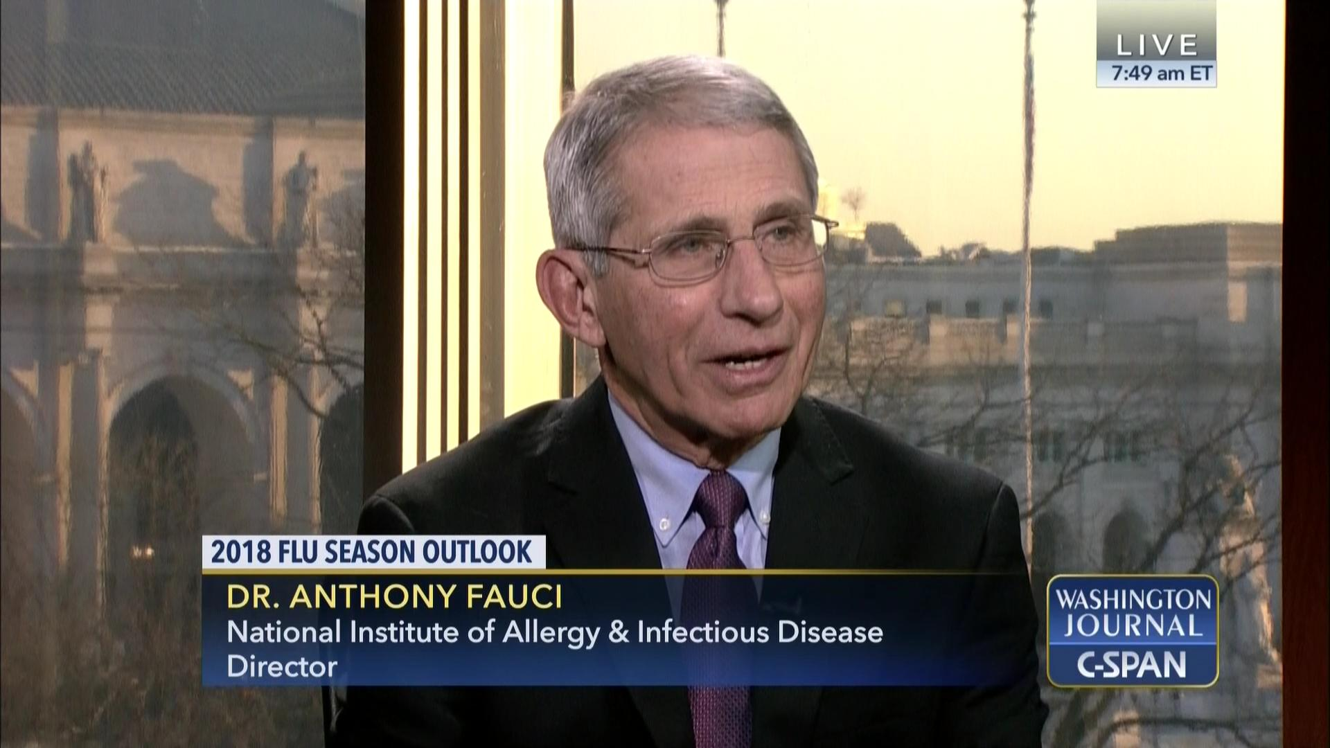 Dr. Anthony Fauci on the 2018 Flu Season  61e5504d2