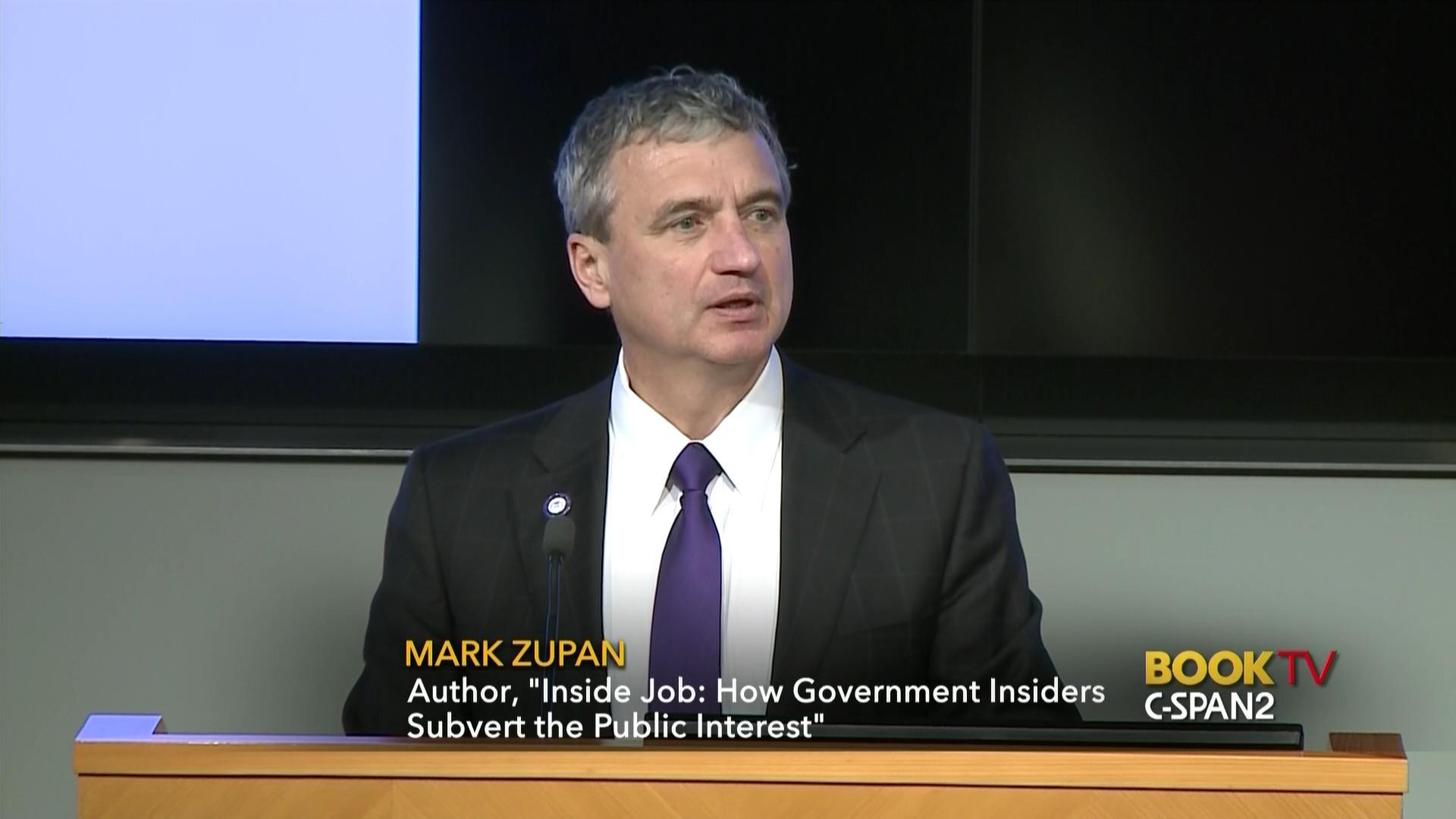 Mark Zupan Discusses Inside Job, Mar 30 2017   Video   C-SPAN.org
