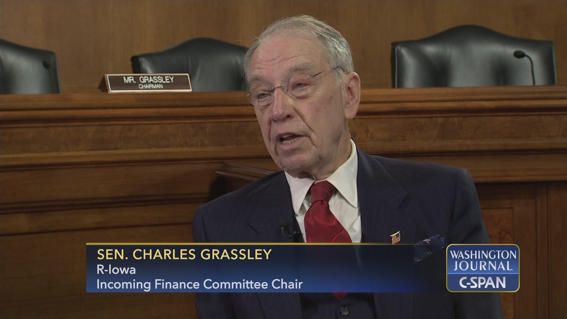 b97dac949 Sen. Grassley (R-IA) on Legislative Priorities for the 116th Congress |  C-SPAN.org
