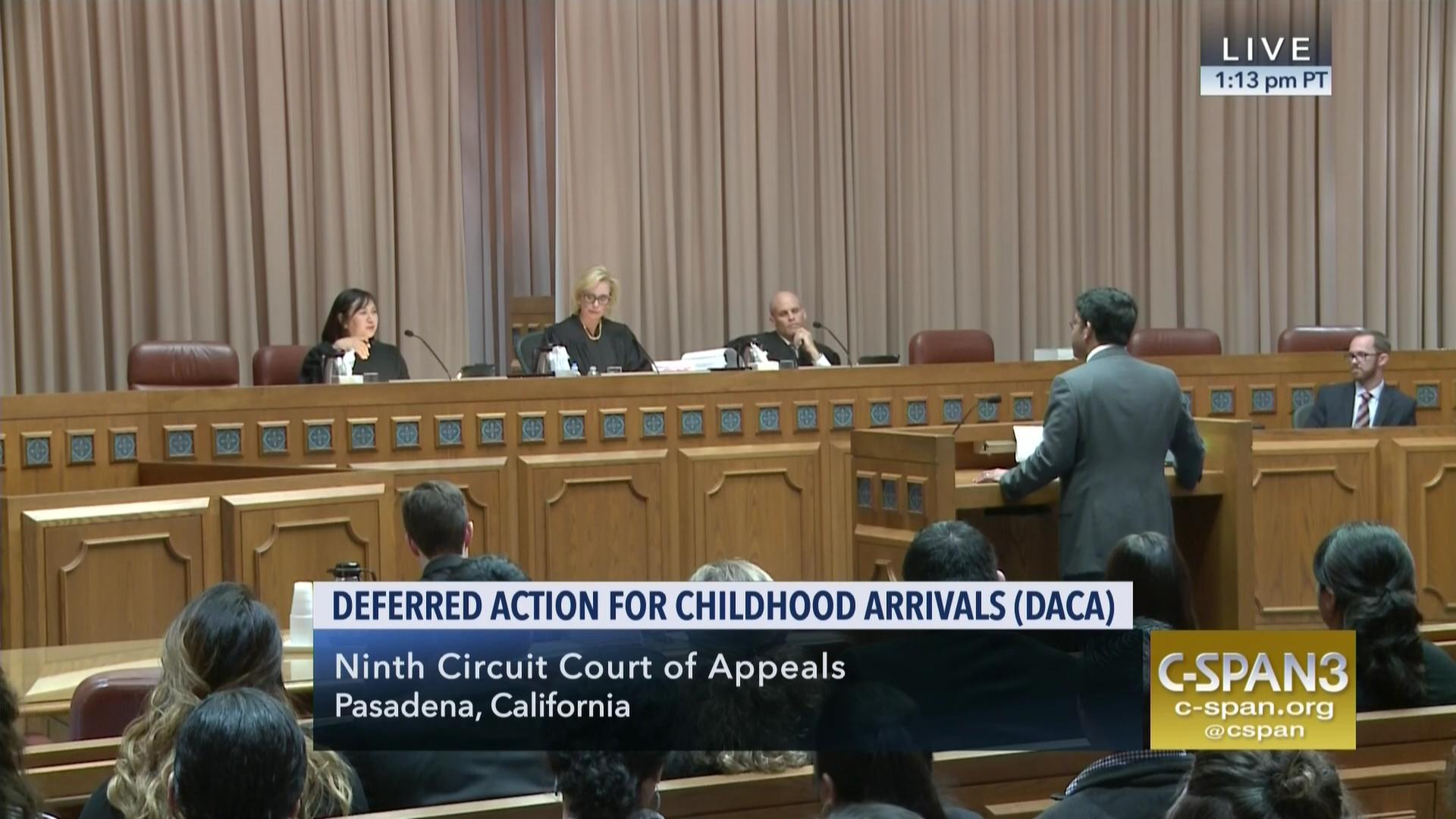 Ninth Circuit Hears Oral Argument Daca Case May 15 2018 Video C Aa Recorded Speakers Great To Listen On Tape