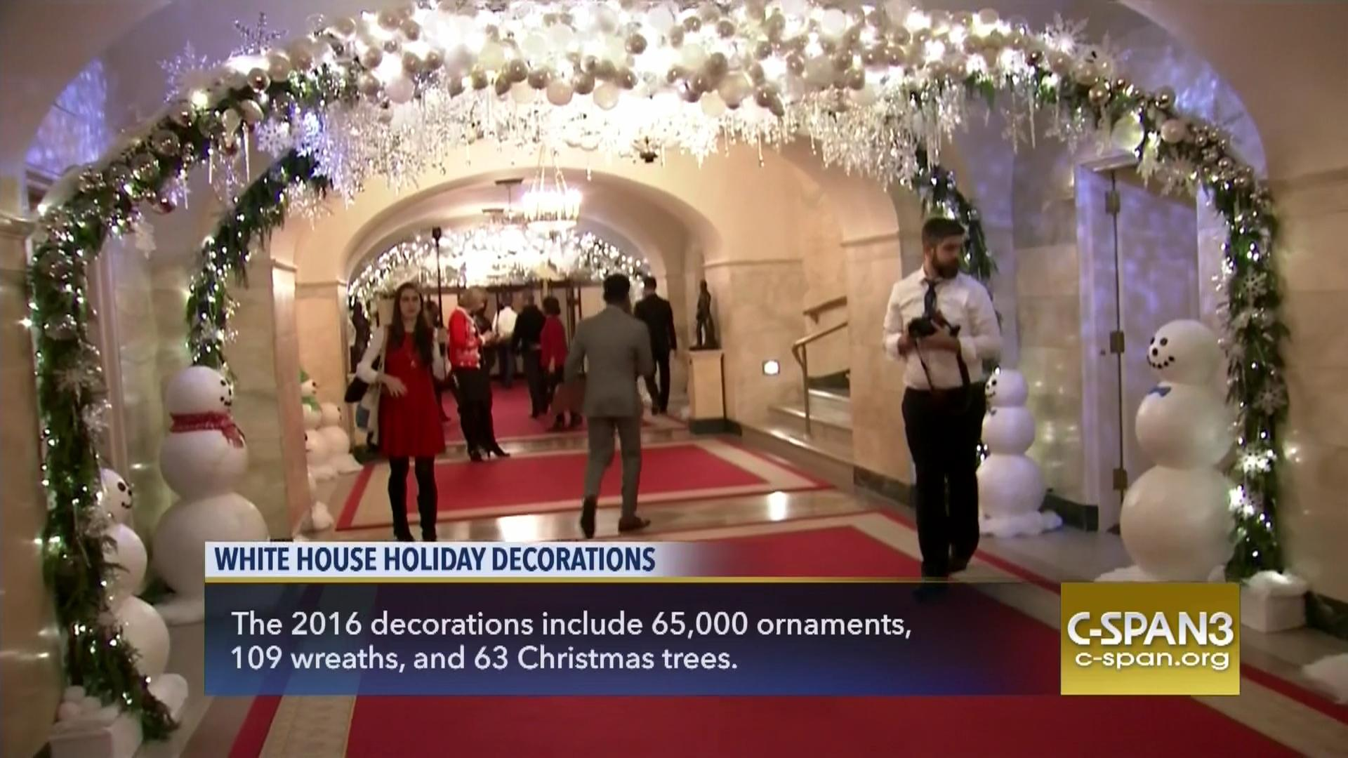 white house 2016 holiday decorations preview nov 29 2016 video c spanorg - White House Christmas Decorations 2016
