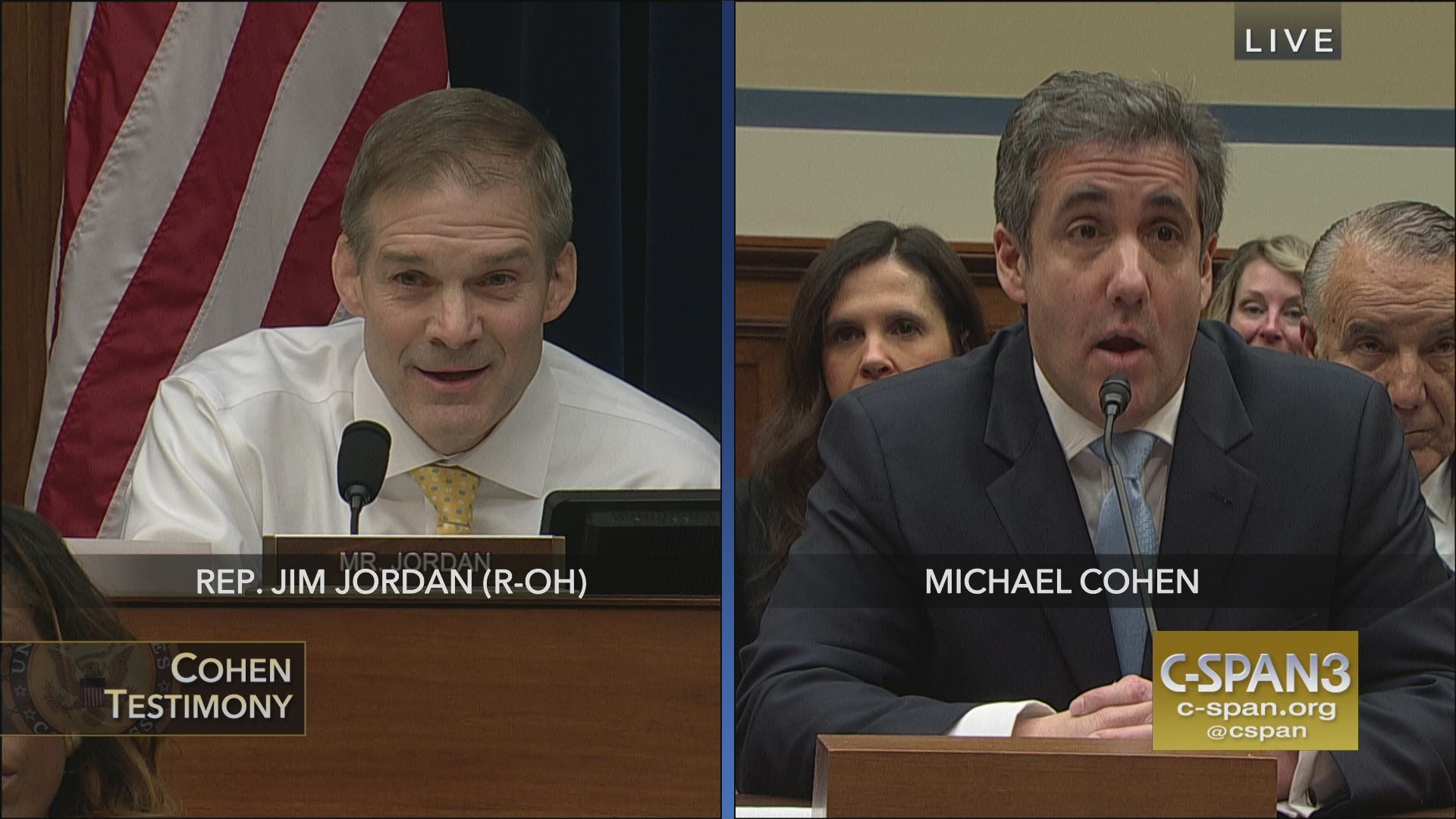 Rep  Jim Jordan Attempts to Discredit Michael Cohen's Testimony, House  Oversight and Government Report Committee Hearing, November 27, 2019