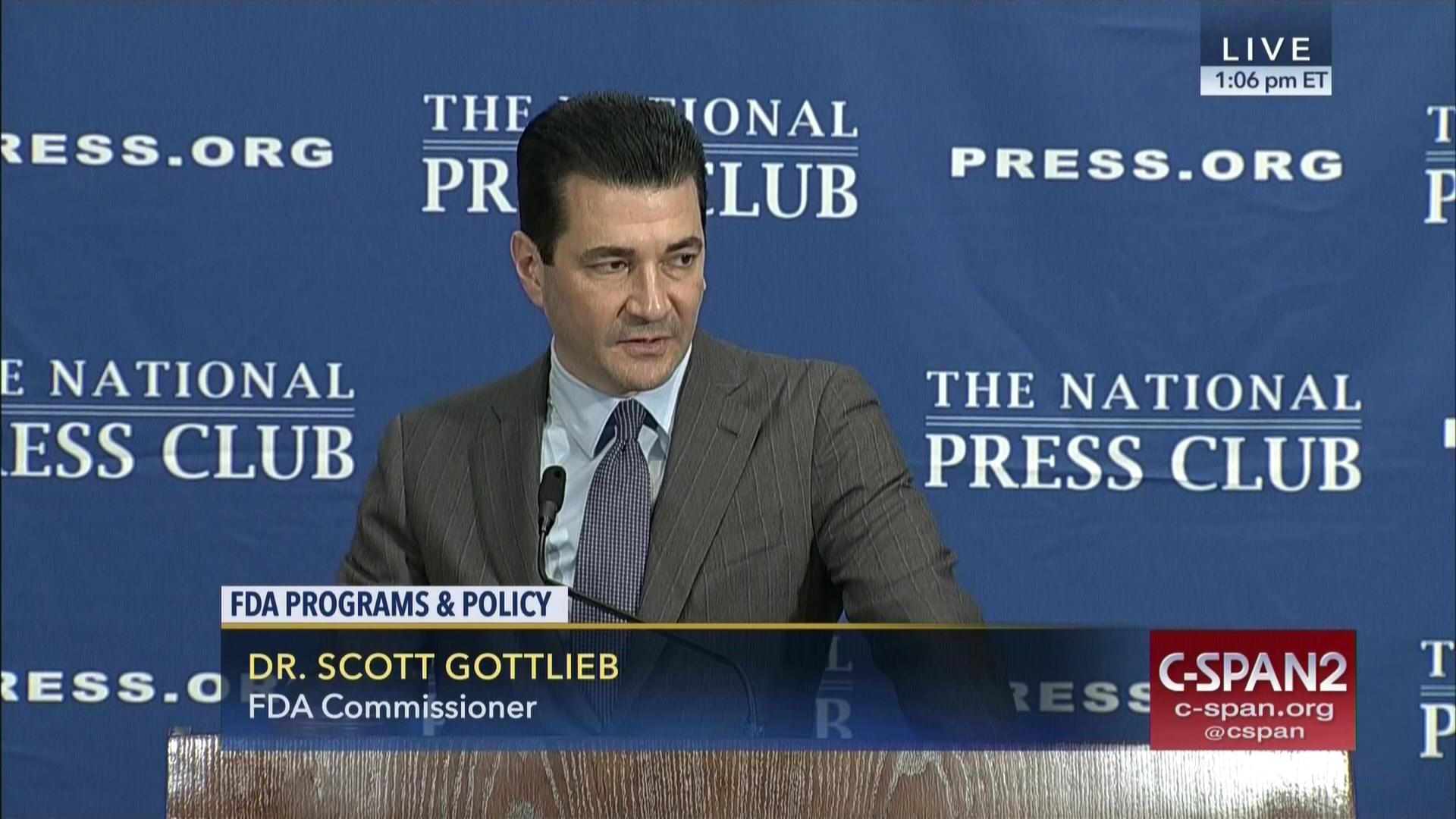 fda commissioner scott gottlieb addresses national press club nov 3 2017