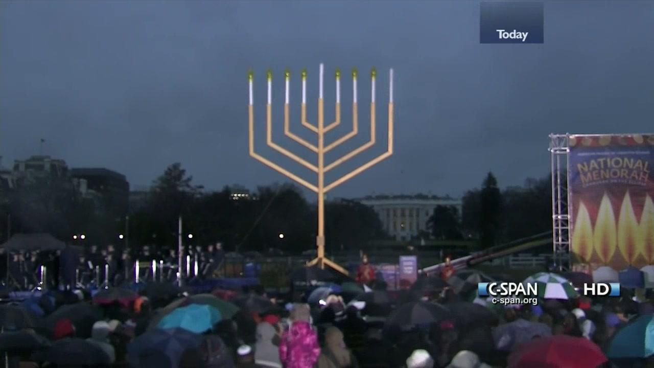 National Hanukkah Menorah Lighting Nov 27 2013 Video C Span
