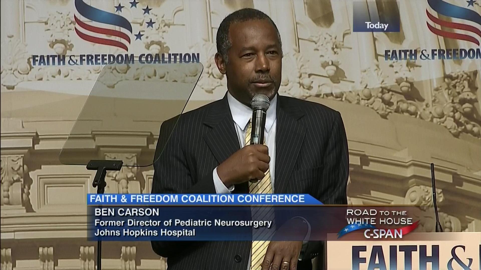 Faith Freedom Coalition Presidential Candidate Ben Carson Jun