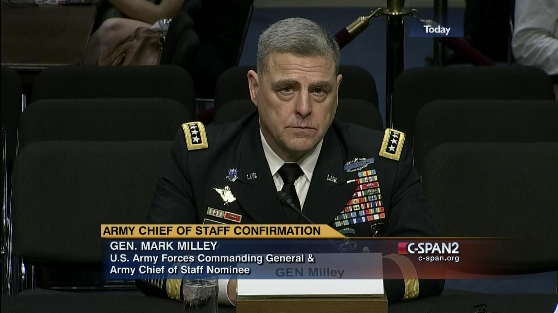 Army Chief of Staff Confirmation Hearing