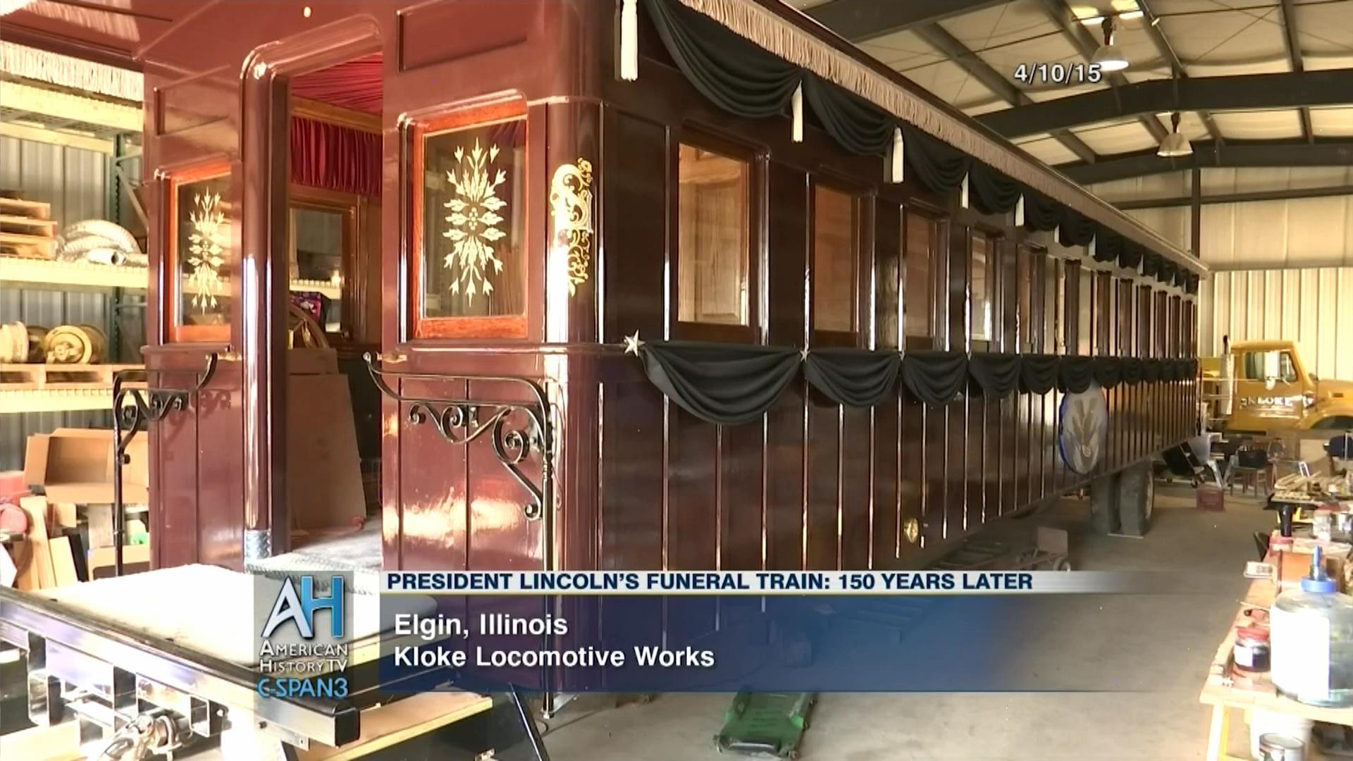 Lincoln Funeral Train Car Replica Apr 10 2015 Video C Span Org