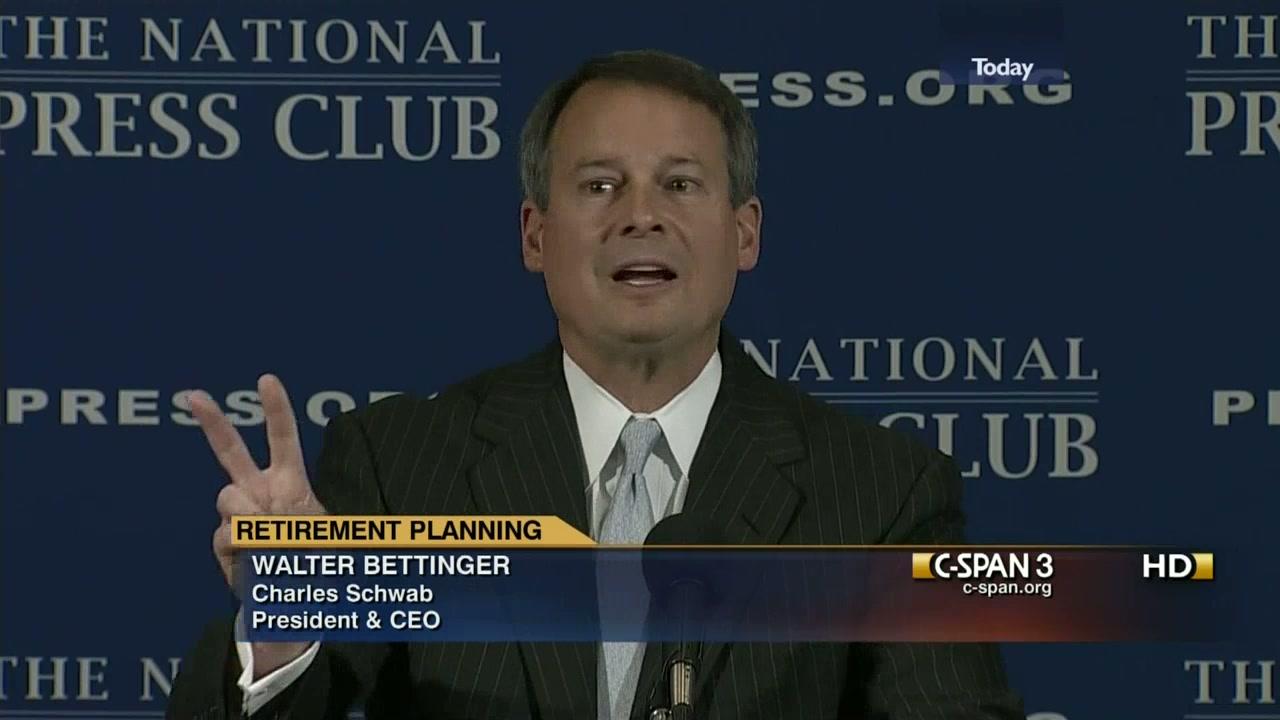 walt bettinger national press club logo