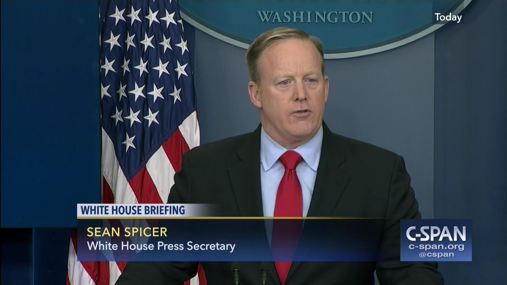 sean spicer fields questions iran sanctions, feb 3 2017 | c-span