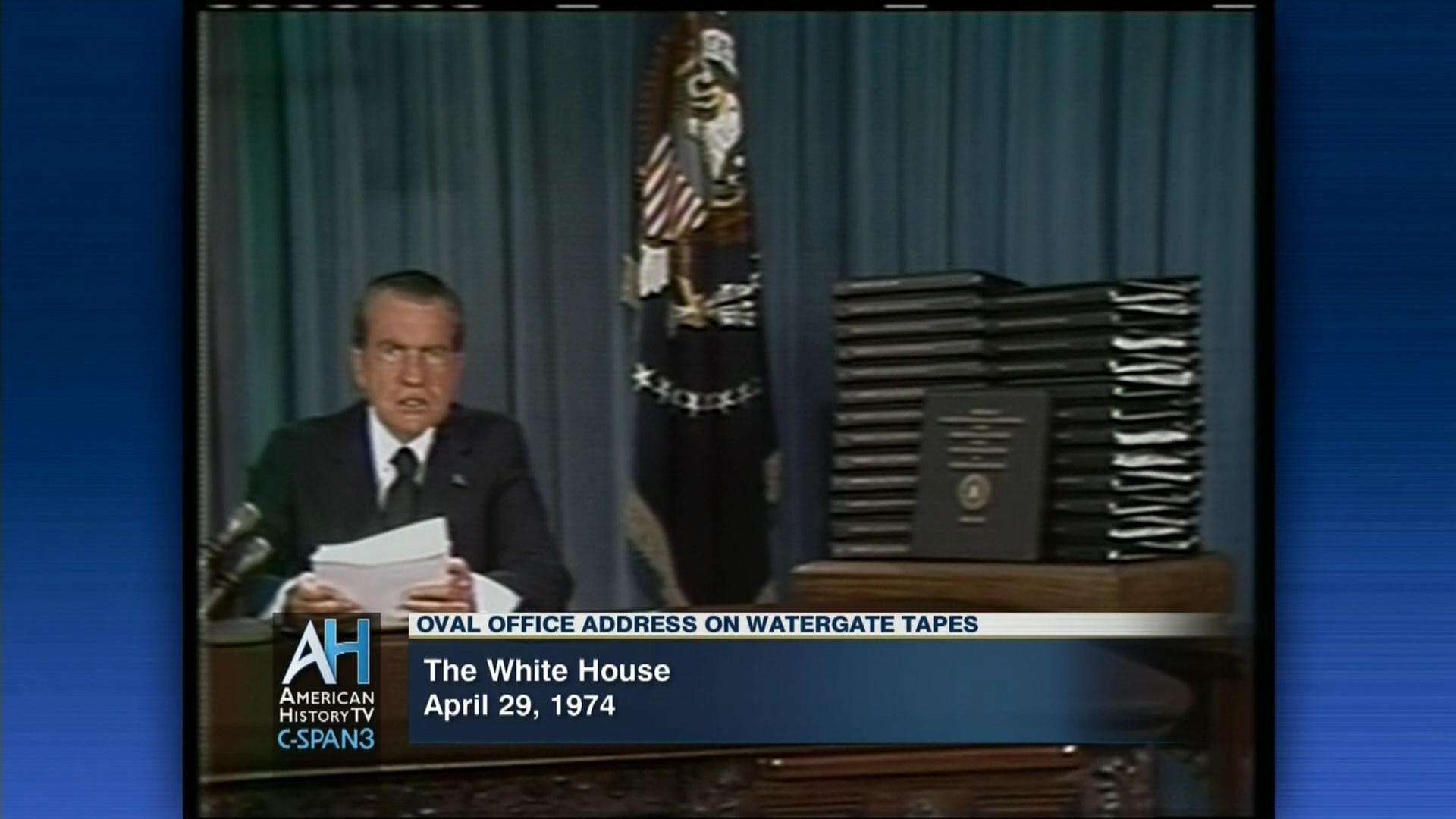 Image result for nixon announces the release of the white house tapes