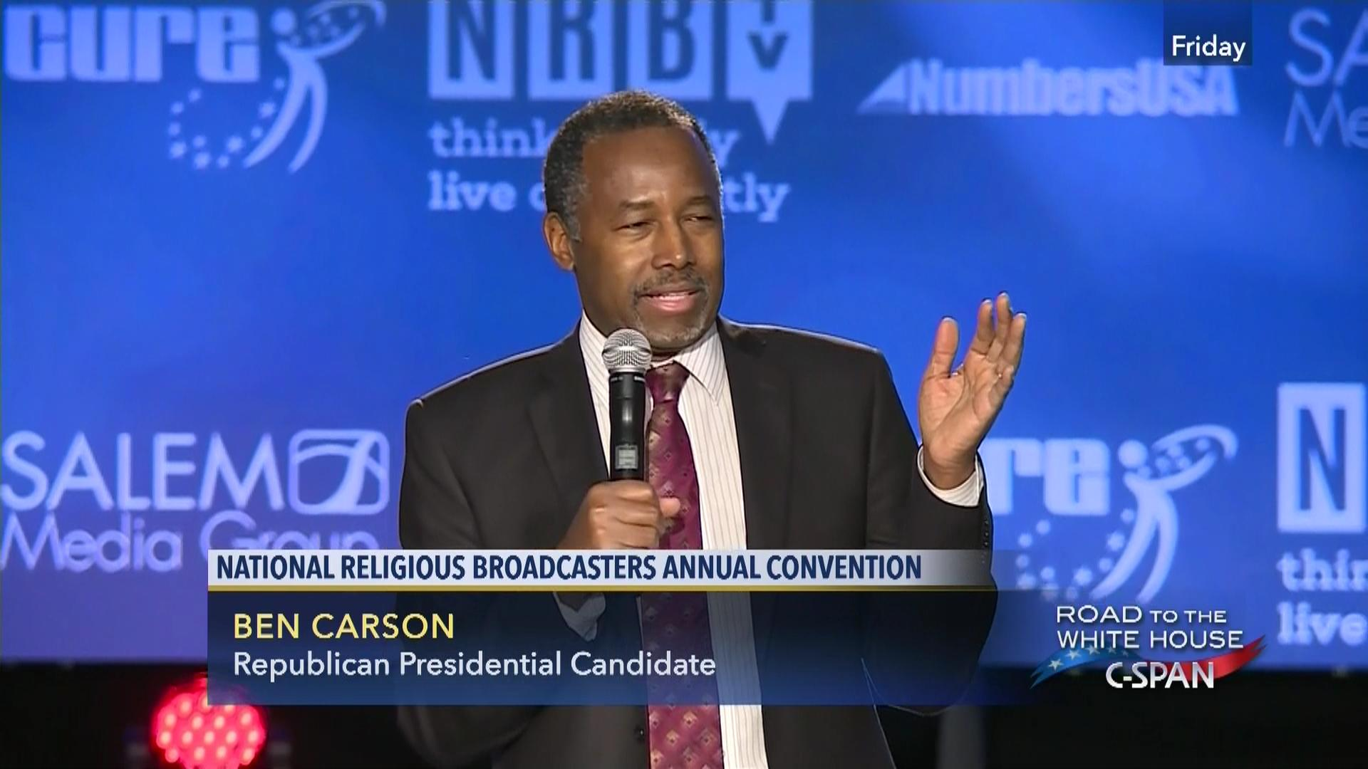 Presidential Candidate Ben Carson National Religious Broadcasters