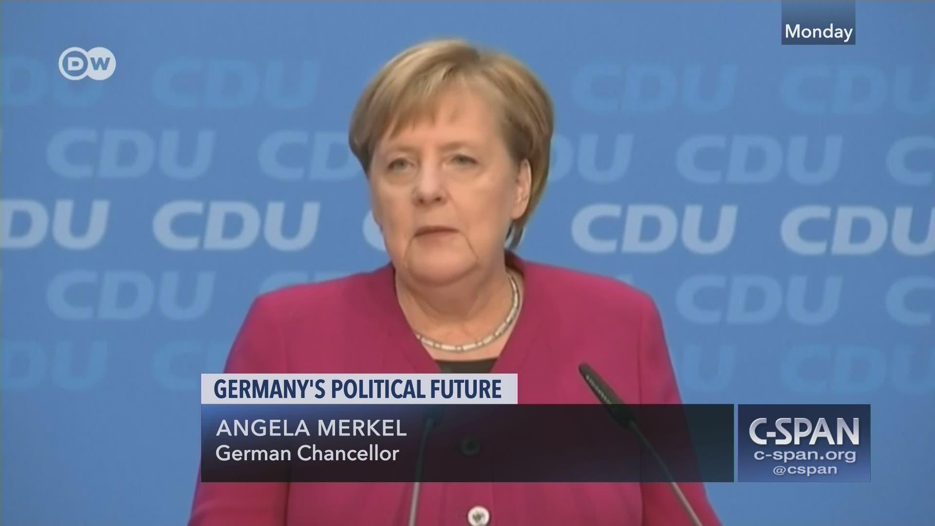 German Chancellor Angela Merkel Statement C Span Org