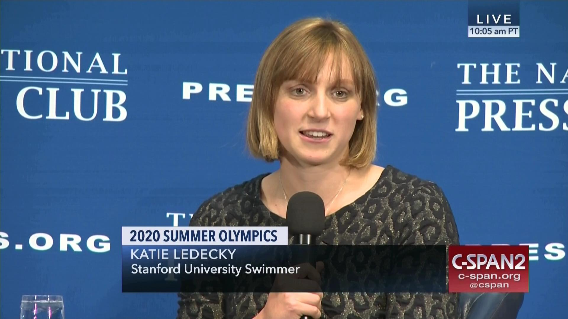 Katie Ledecky on the 2020 Summer Olympics