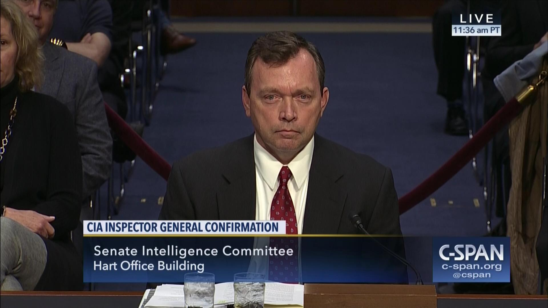 CIA Inspector General Confirmation Hearing