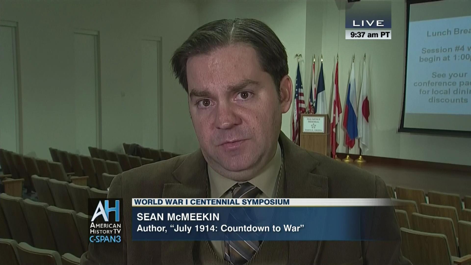 mcmeekin  Discussion Prelude World War, Nov 15 2014 | Video