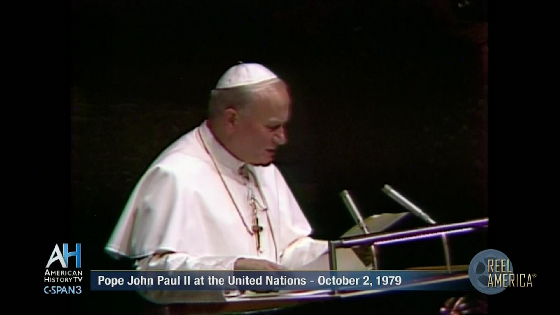 Pope John Paul II at the United Nations | C-SPAN.org