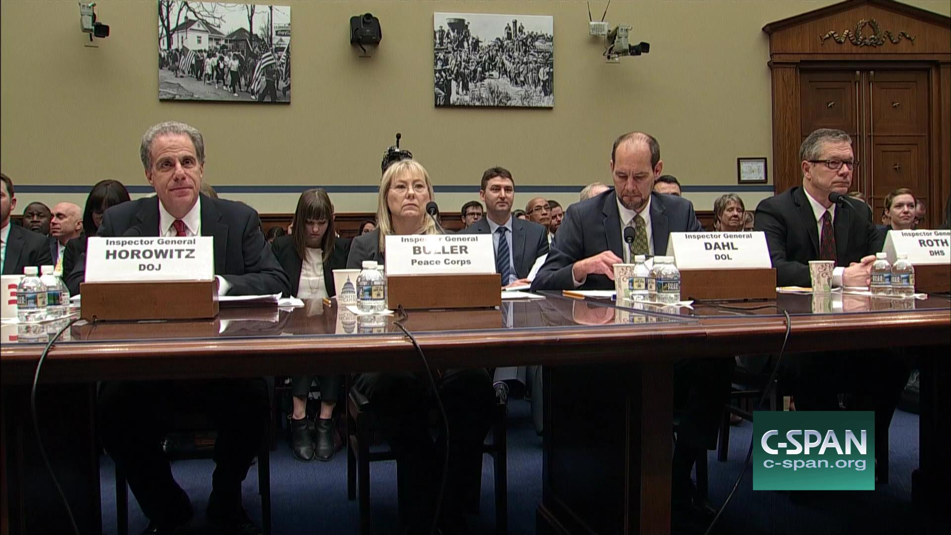 Hearing Focuses Federal Agencies Inspectors General Feb 1 2017