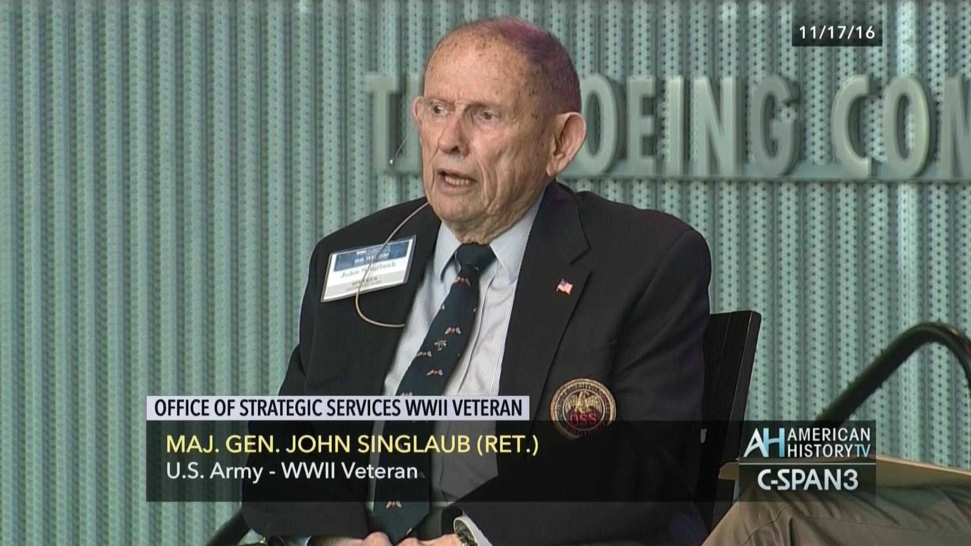 Office Of Strategic Services World War Ii Veteran