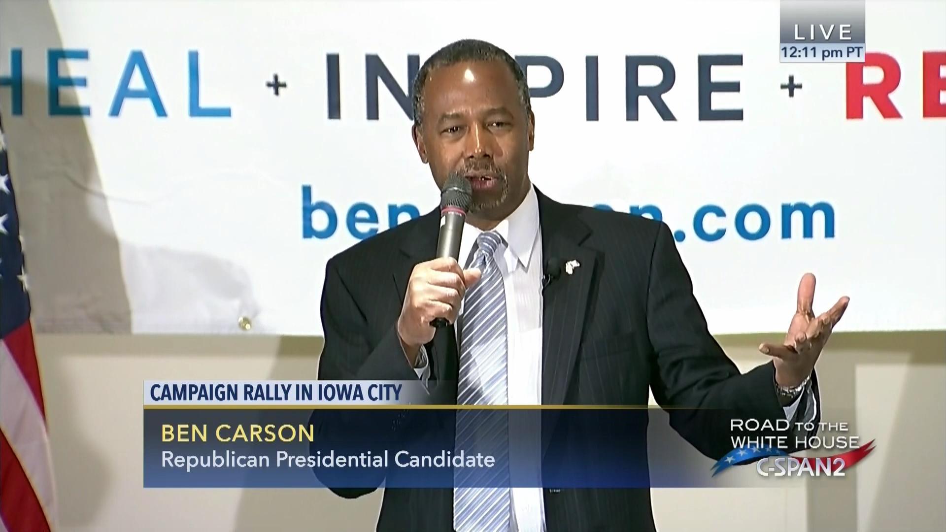 Ben Carson Town Hall Meeting Iowa City Jan Video