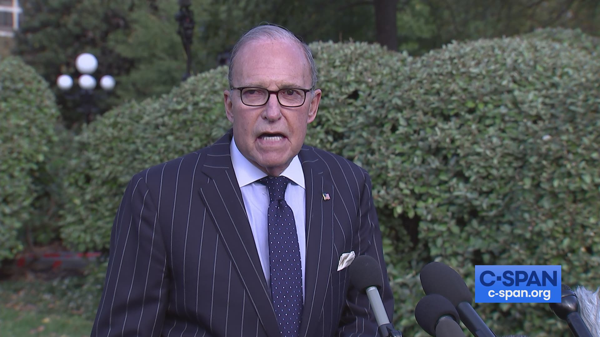 Larry Kudlow Comments to Reporters in White House Driveway | C ...